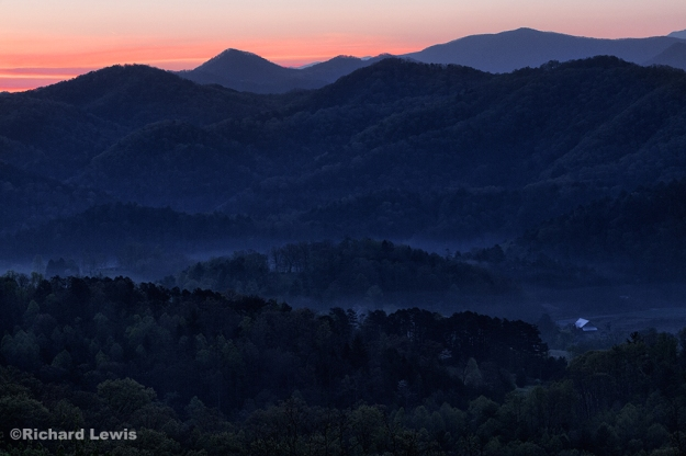 Blue Hour in the Smokey Mountains