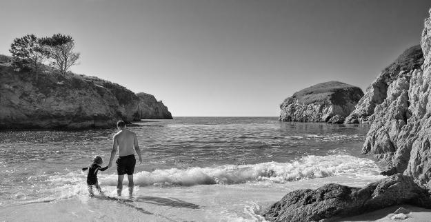 Beach Scene, Carmel California by Richard Lewis