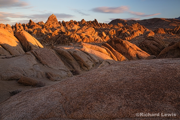 Rock Formations in the Alabama Hills by Richard Lewis