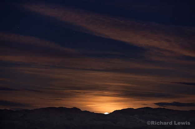 Moon Set in Death Valley by Richard Lewis