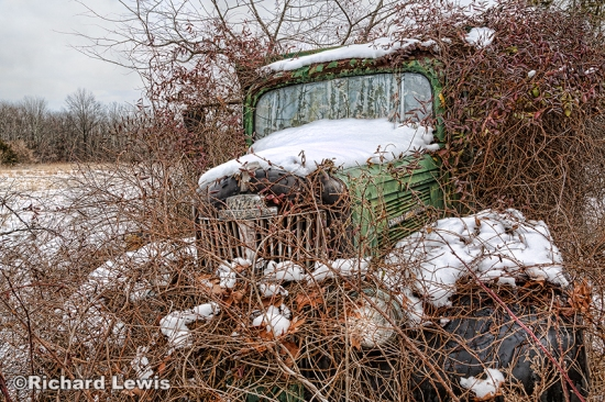 An Old White Truck With Complimentary Colors by Richard Lewis