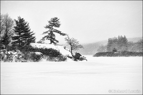 Storm on Pine Meadow Lake by Richard Lewis