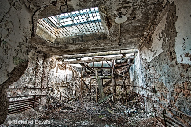 Collapsed Roof at Eastern State Penitentiary  by Richard Lewis