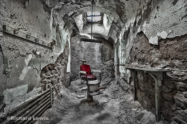 The Barber Chair at Eastern State Penitentiary by Richard Lewis