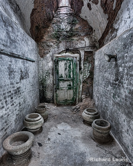 Cell with Pottery Eastern State Penitentiary by Richard Lewis