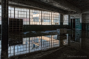 Reflection On The Scranton Lace Company by Richard Lewis