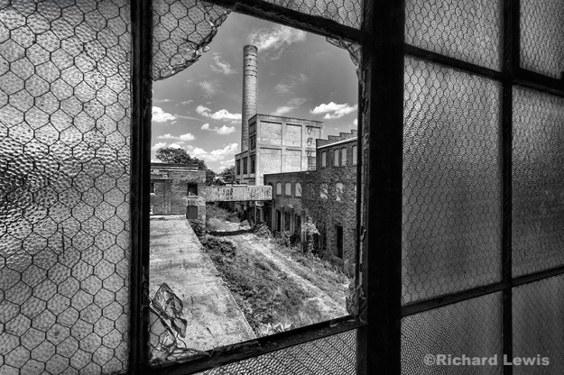Looking Out At The Scranton Lace Company by Richard Lewis