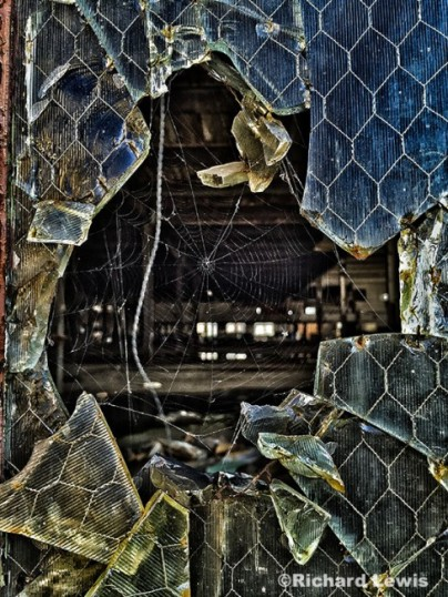 Broken Window at the Scranton Lace Company by Richard Lewis