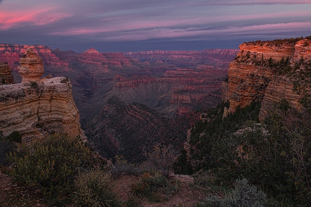 Grand Canyon Afterglow by Richard Lewis