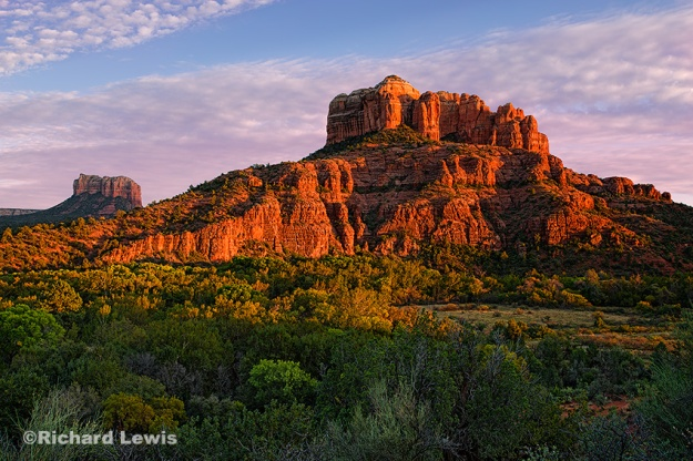 Cathedral Rock at Dusk by Richard Lewis