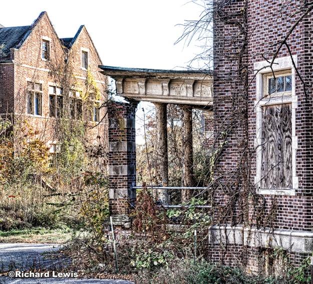 Pennhurst Deteriorated Exterior by Richard Lewis