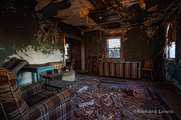 Abandoned Farmhouse Parlor by Richard Lewis