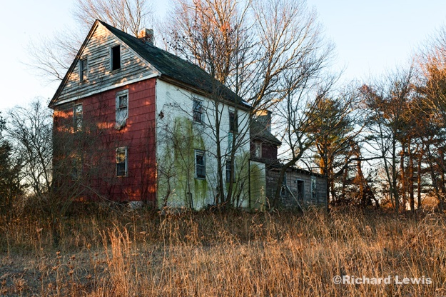 Rear View of an Abandoned Farmhouse by Richard Lewis