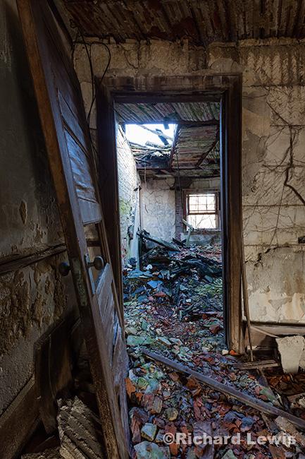 McNeal Mansion Doorway to Devastation by Richard Lewis