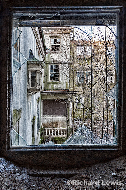 McNeal Mansion Looking Out by Richard Lewis