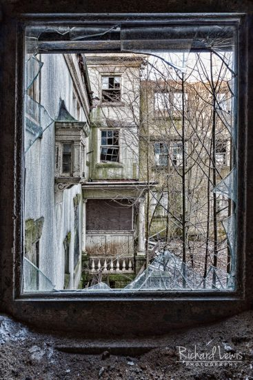 McNeal Mansion Window On Devastation by Richard Lewis