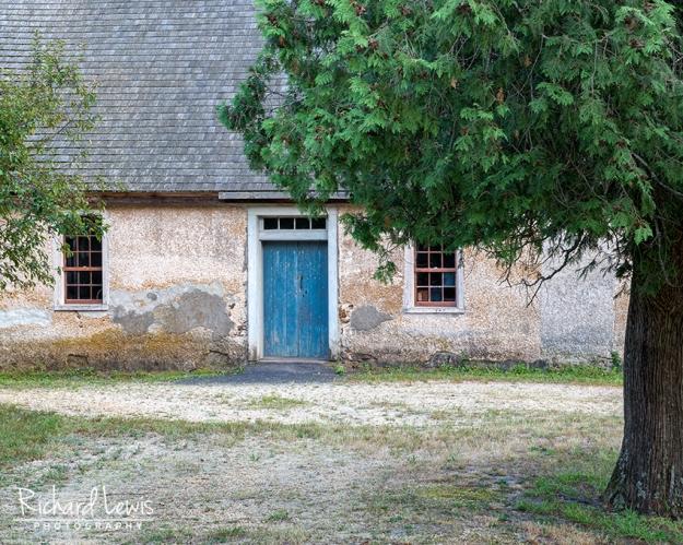 The Blue Door at Batsto by Richard Lewis