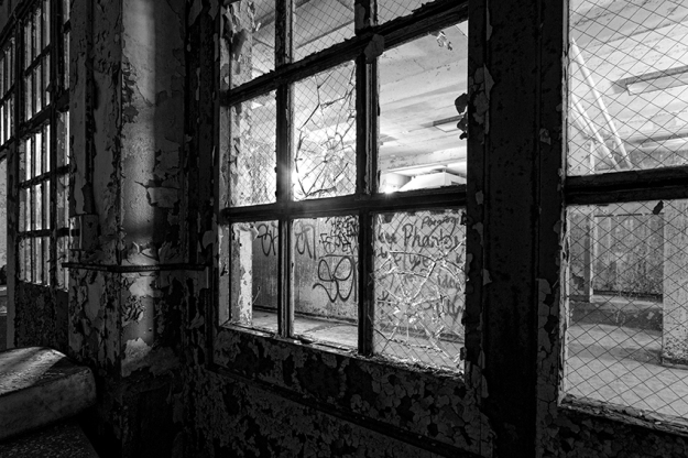 Looking Out From A Dark Room at Pennhurst by Richard Lewis