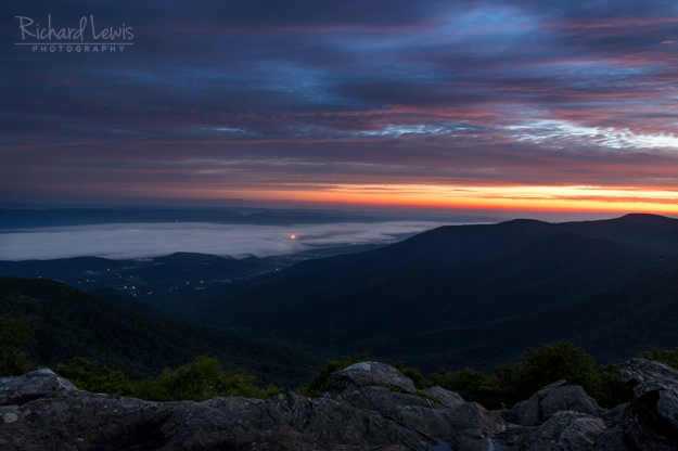 First Light in the Shenandoah Valley Shenandoah National Park by Richard Lewi