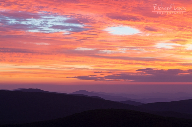 Breaking Dawn in Shenandoah National Park by Richard Lewis