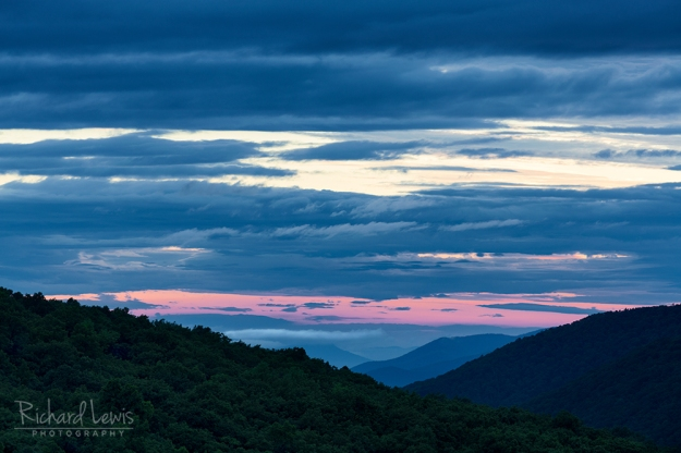 Pastel Sunrise in Shenandoah National Park by Richard Lewis