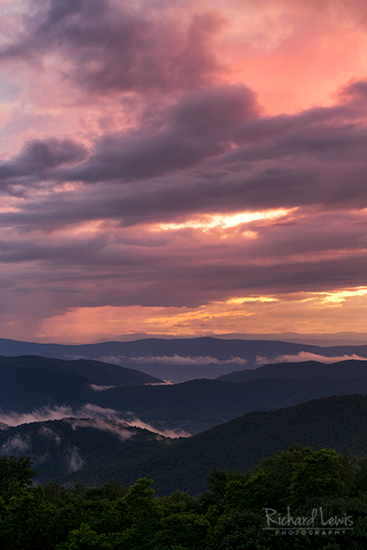 Shenandoah National Park Sunset by Richard Lewis