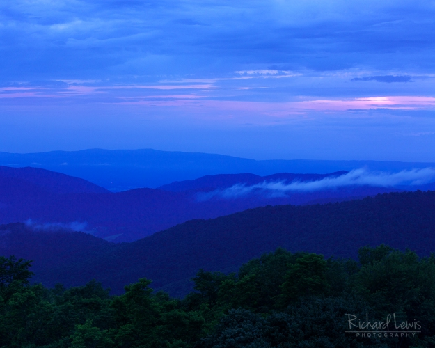 Soft Evening Palette in Shenandoah National Park by Richard Lewis