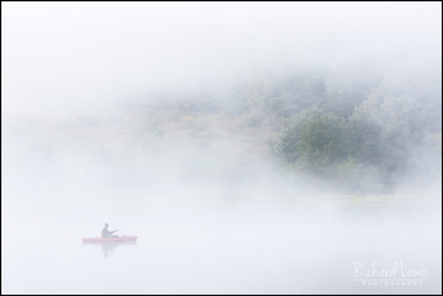 Misty Morning in the Delaware Water Gap by Richard Lewis