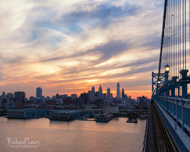 Philadelphia In The Early Evening by Richard Lewis