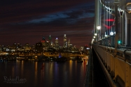 Philadelphia Evening Ben Franklin Bridge by Richard Lewis