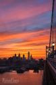 Philadelphia Sunset 2 Ben Franklin Bridge by Richard Lewis